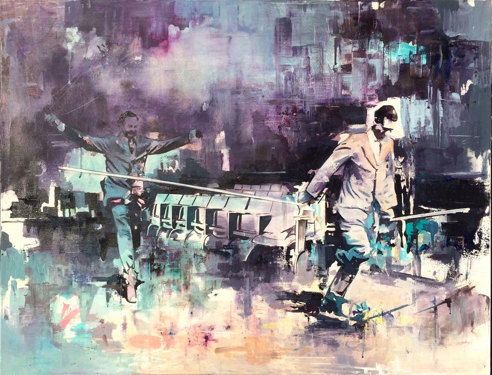 01 - The Walking Head , 85 x 110 cm , Öl auf Leinwand , 2016