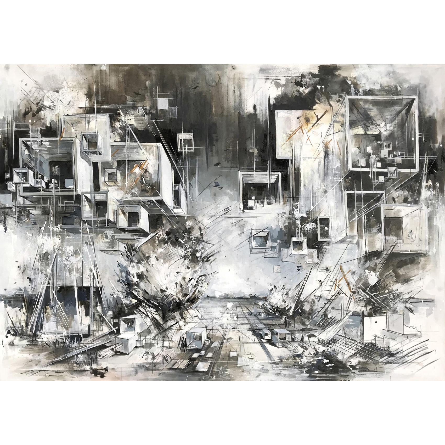 Utopia XXII, 170 x 240 cm Öl auf Leinwand, 2019