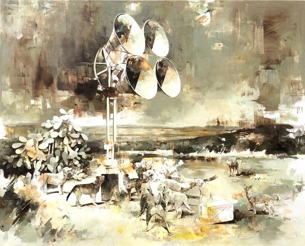 02 - HÖRT, 145 x 180 cm , Öl auf Leinwand , 2017 Kopie