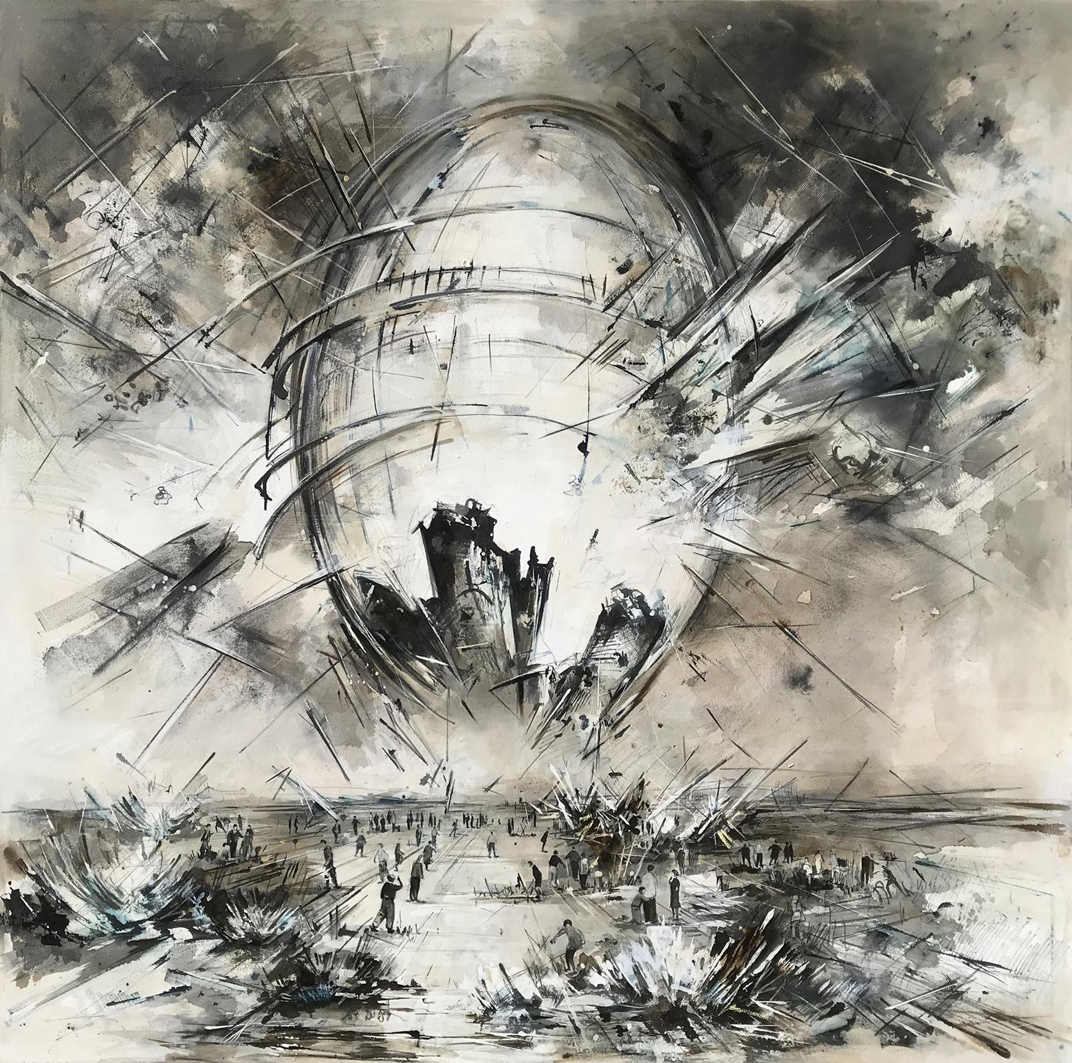Utopia XX,180 x 180 cm, Öl auf Leinwand,  2019