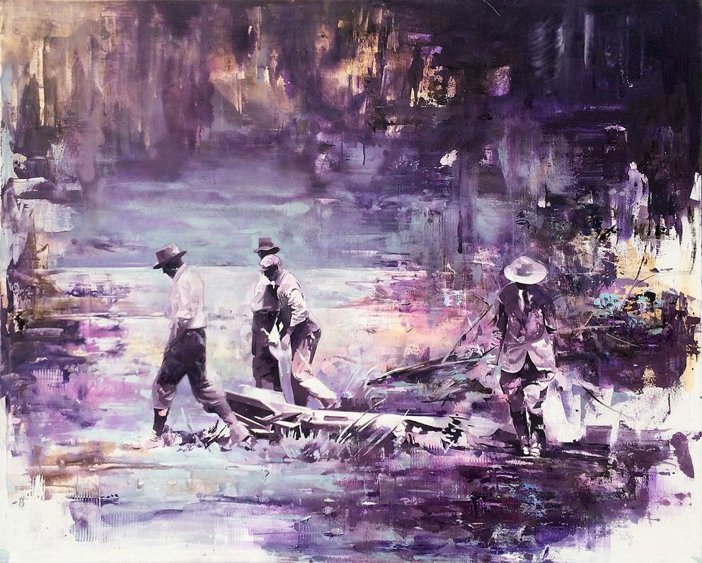 03 - Der Fund, 120 x 150 cm, Öl auf Leinwand, 2016