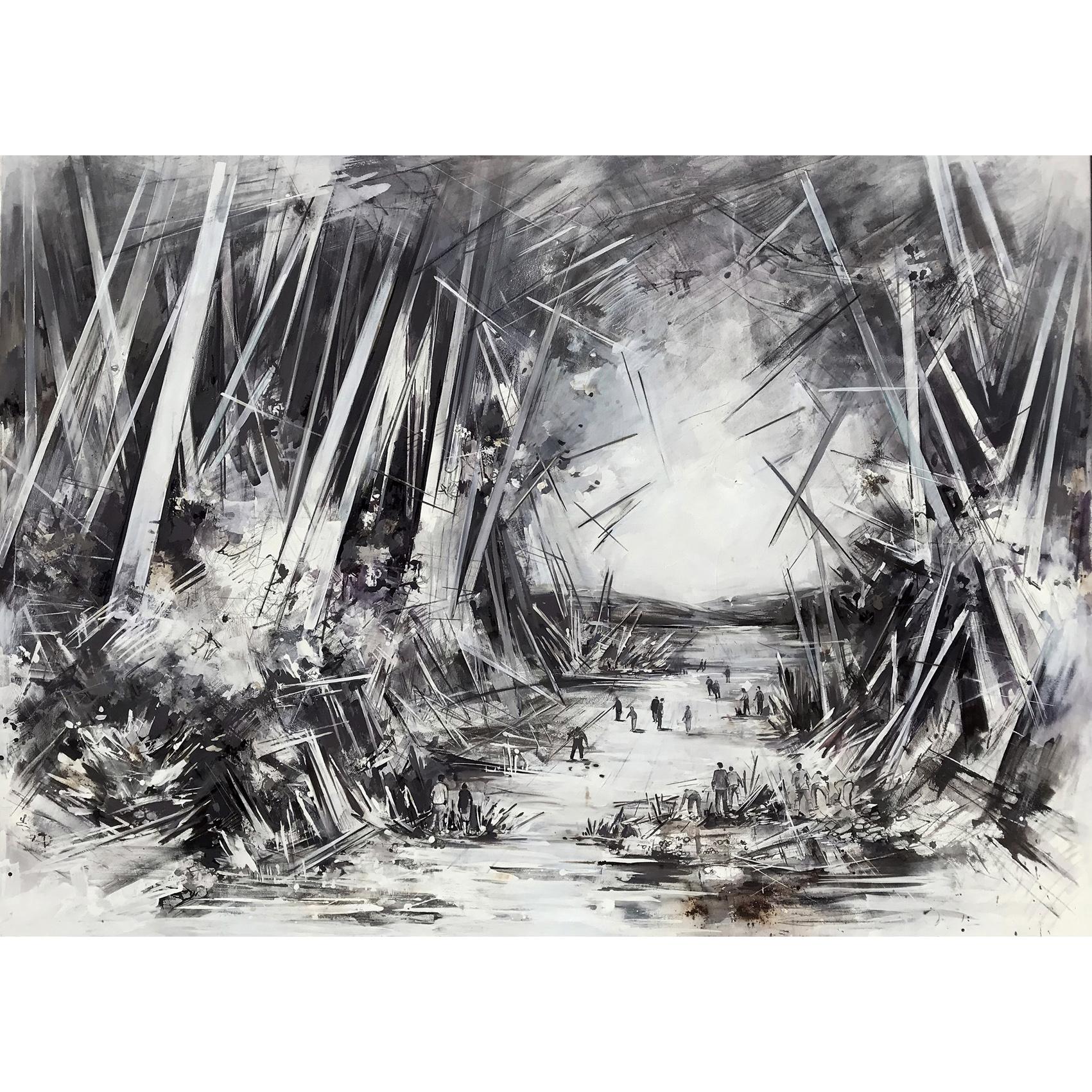Utopia XVII, 170 x 245 cm,  Öl auf Leinwand,  2019