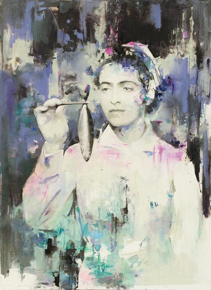 04 - hide & seek 02, 78 x 105 cm, Öl auf Leinwand, 2016 Kopie