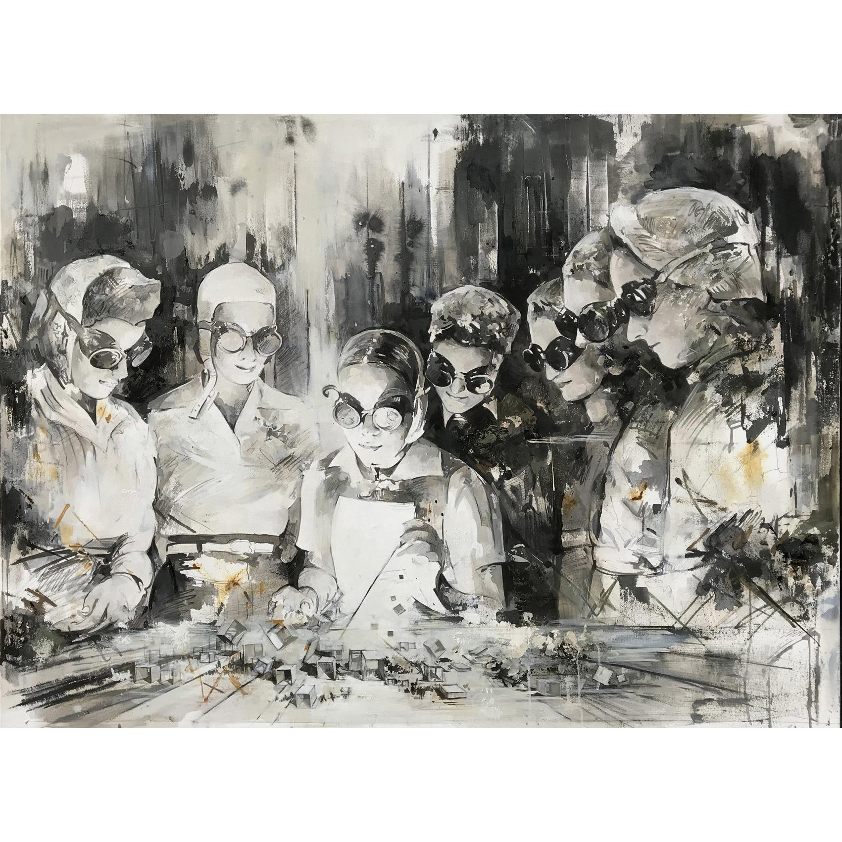 Utopia XXII, 110 x 145 cm, Öl auf Leinwand,  2019