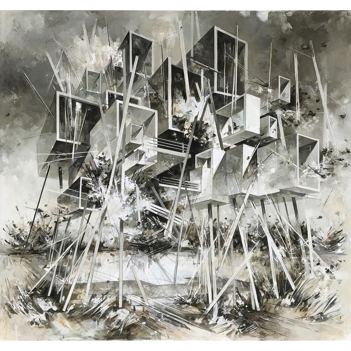Utopia XVIII, 200 x 210 cm, Öl auf Leinwand, 2019
