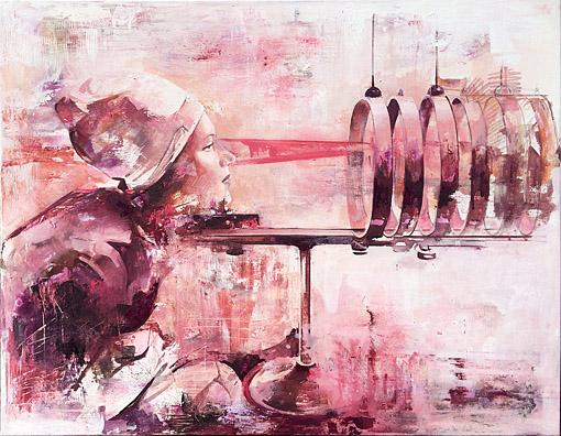 Contact, 70 x 90, Öl auf Leinwand, 2016
