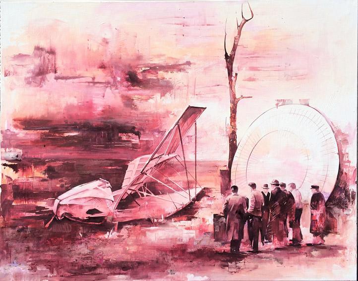 Expo, 130 x 165  cm,  Öl auf Leinwand, 2016