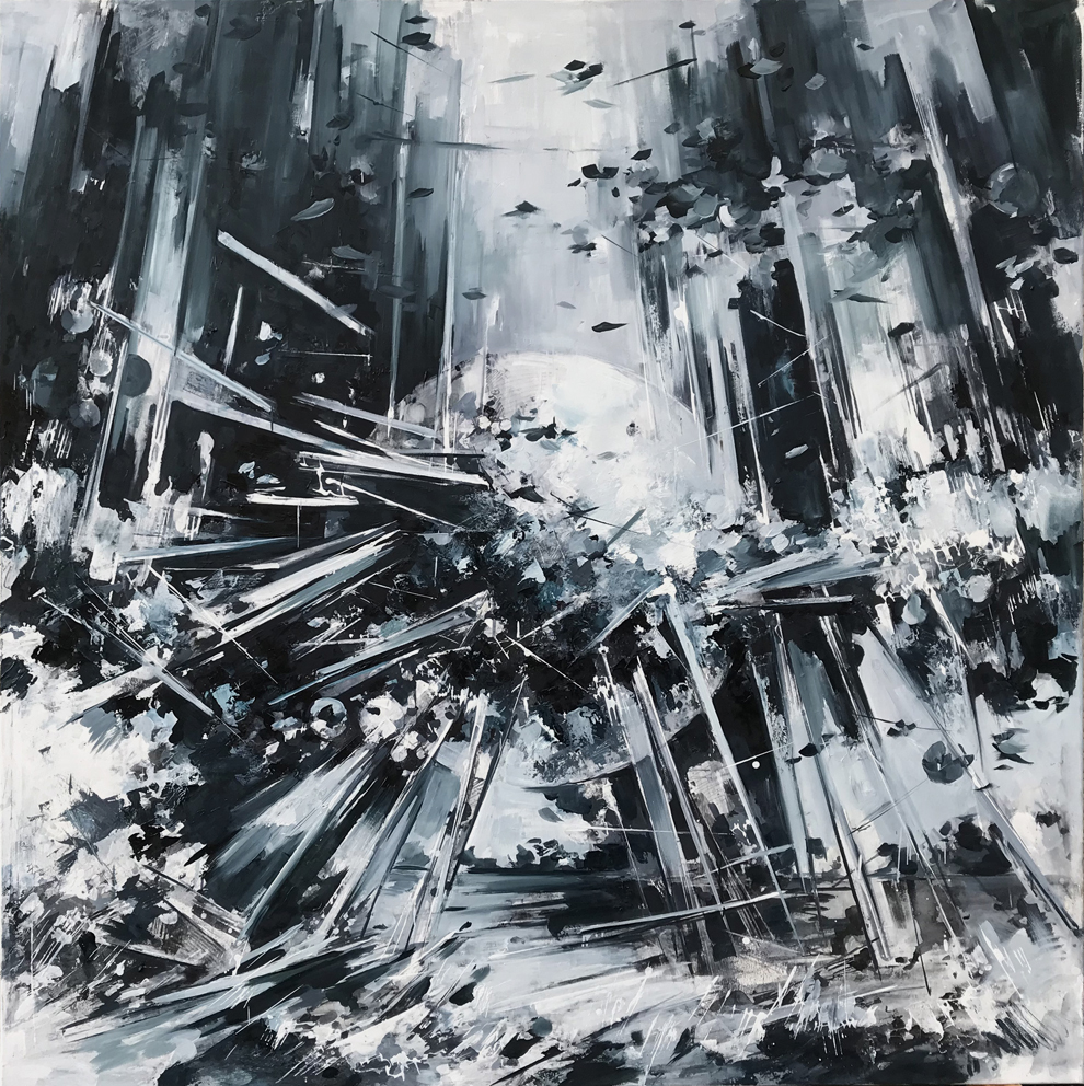 Utopia XVI,a 2018,oil on canvas, 195 x 190 cm