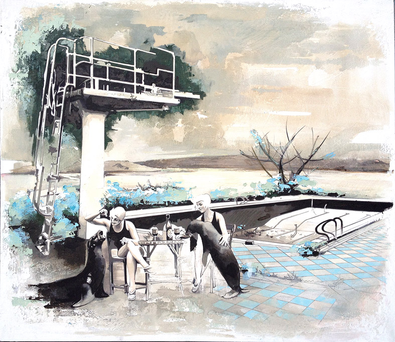 Pooltime 03, 130 x 150 cm, Öl auf Leinwand , 2014